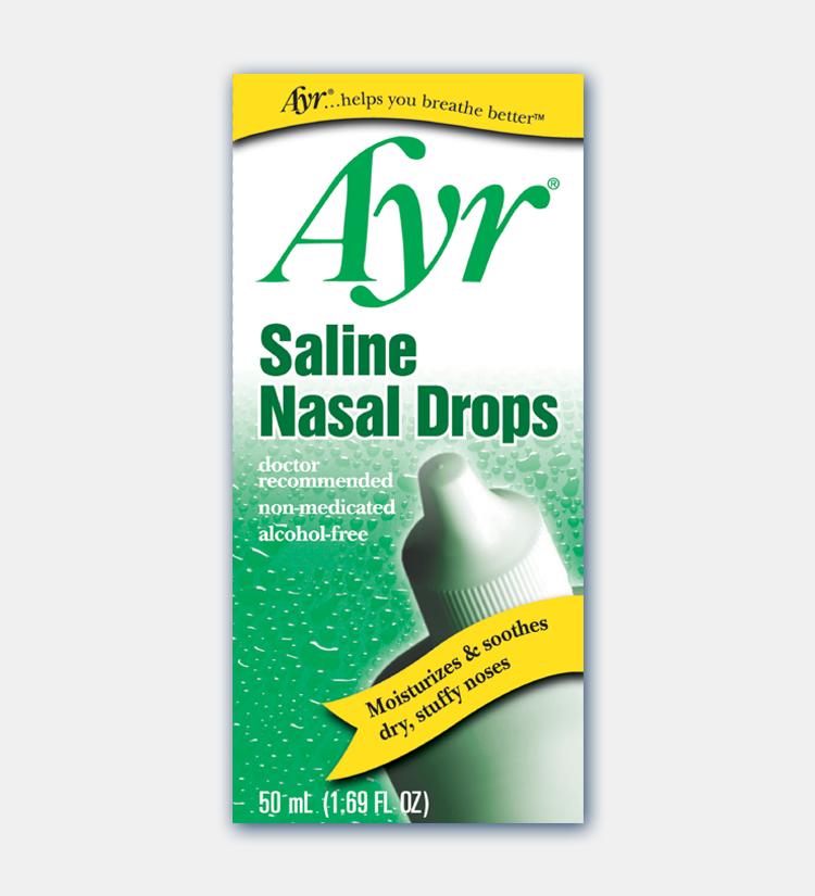 Ayr Saline Nasal Drops B F Ascher Amp Company Inc