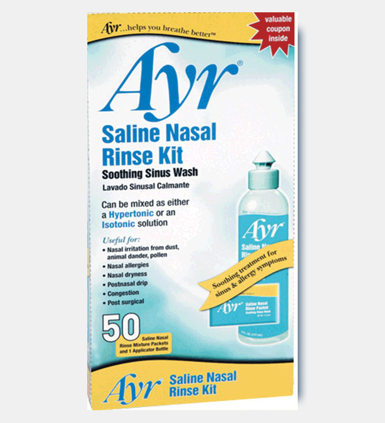 how to use ayr saline nasal mist